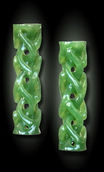 Carved Jade Eardrops